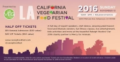 HALF OFF tickets to the California Vegetarian Food Festival